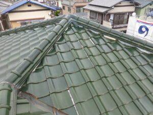 施工前屋根瓦